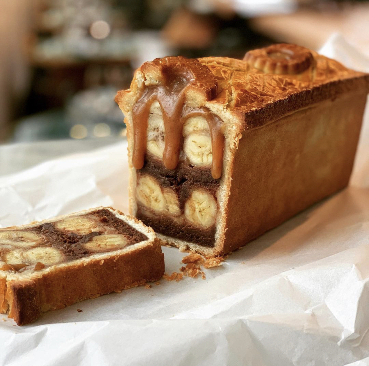 Exclusivité ce Week-end : Les Pâtés Croûtes Abricot Pistache et Bananes flambées Chocolat de Julien Duboué et Matthieu Dalmais de chez BOULOM